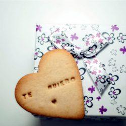 Galletas con mensaje de amor