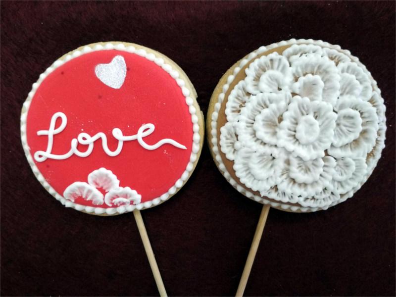 Galletas Piruleta Con Amor y Flor