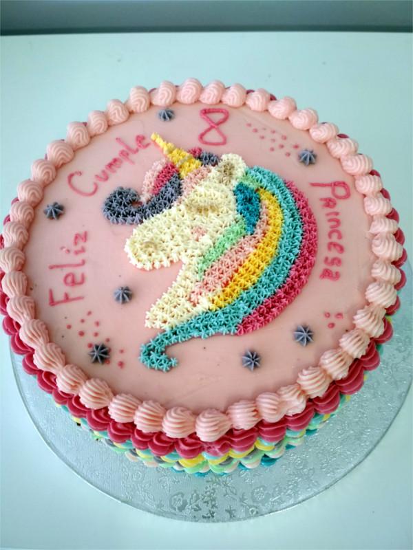 Tarta Unicornio Colores
