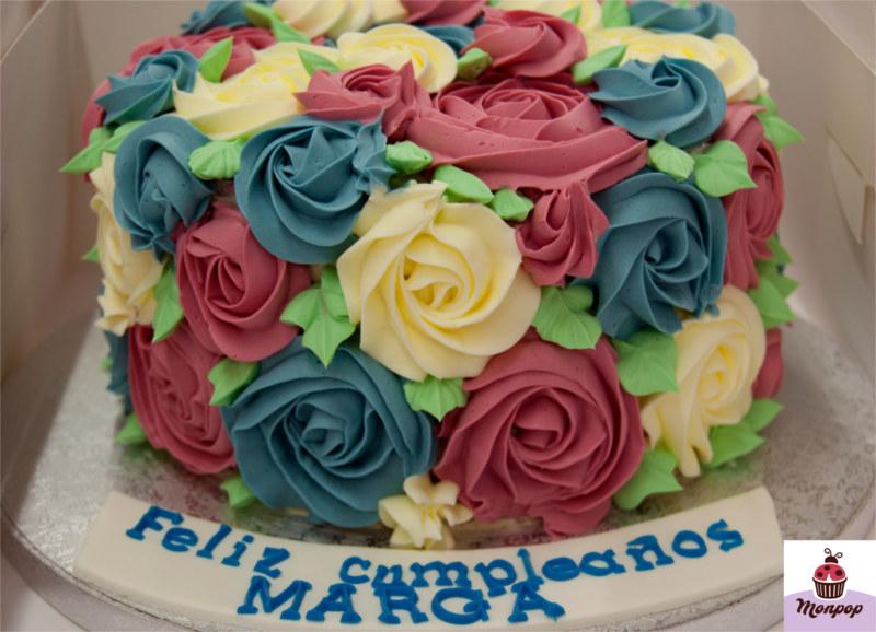 Tarta Rosetones de Colores