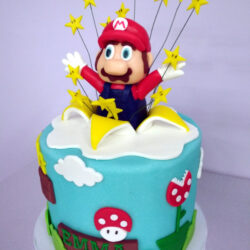 Tarta Fondant Super Mario Bros