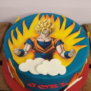 Tarta Son Goku Super Saiyan